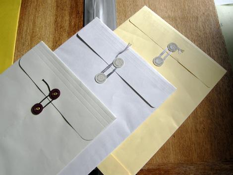 マチ付き保存袋・ハトメ付き封筒
