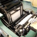 名刺用 活版印刷機